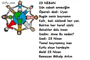 23 nisan şiirleri