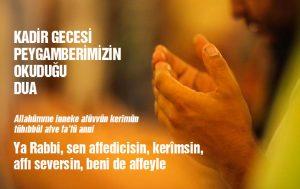 Kadir Gecesi Duası Türkçe