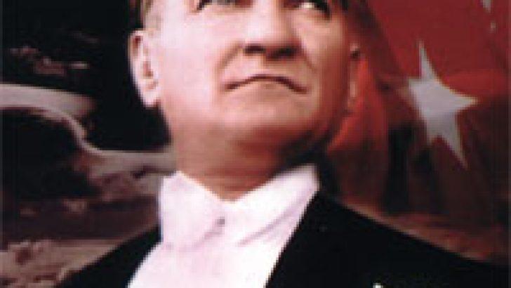 Atatürk Resimli Bayrak
