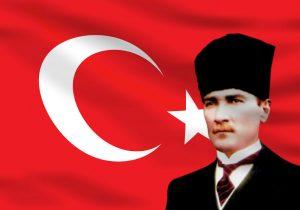 Atatürk Resimli Bayrak 2016