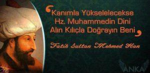 fatih sultan mehmed sözleri resimli