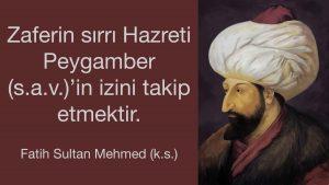 fatih sultan mehmed sözleri anlamlı