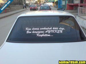 araba arkası sözleri güzel