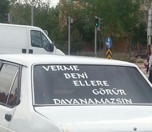araba arkası sözleri komik