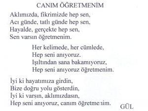 öğretmen şiirleri