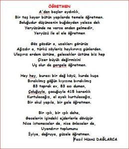 öğretmen şiirleri yeni
