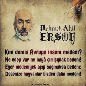 Mehmet Akif Ersoy Sözleri anlamli